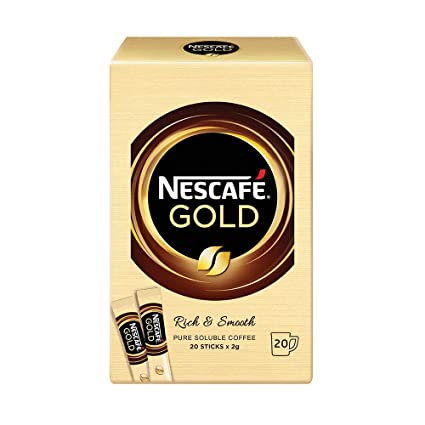 Nescafe Gold Rich Smooth Instant Coffee Imported From Malaysia 20 Sticks X 2g