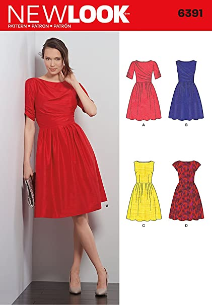 71db73bfd1 New Look 6391 Size A Misses  Dresses Sewing Pattern