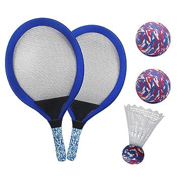 YIMORE Raquetas de Tenis Badminton Racket Set con Bolas Juguete de ...
