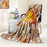 AmaPark Super Soft Lightweight Blanket Clown Swimming in Tentacles in the Pacific Bali Indonesia Wildlife Orange Oversized Travel Throw Cover Blanket
