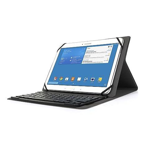 Feelkaeu Funda Teclado Bluetooth Español Layout Case del Teclado Inalámbrico Magnético para Cualquier Windows/Android
