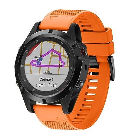 LANSKIRT Reemplazo de Silicona Liberación rápida Ajuste fácil Reloj de Pulsera Accesorios para Relojes Extensibles Pulsera