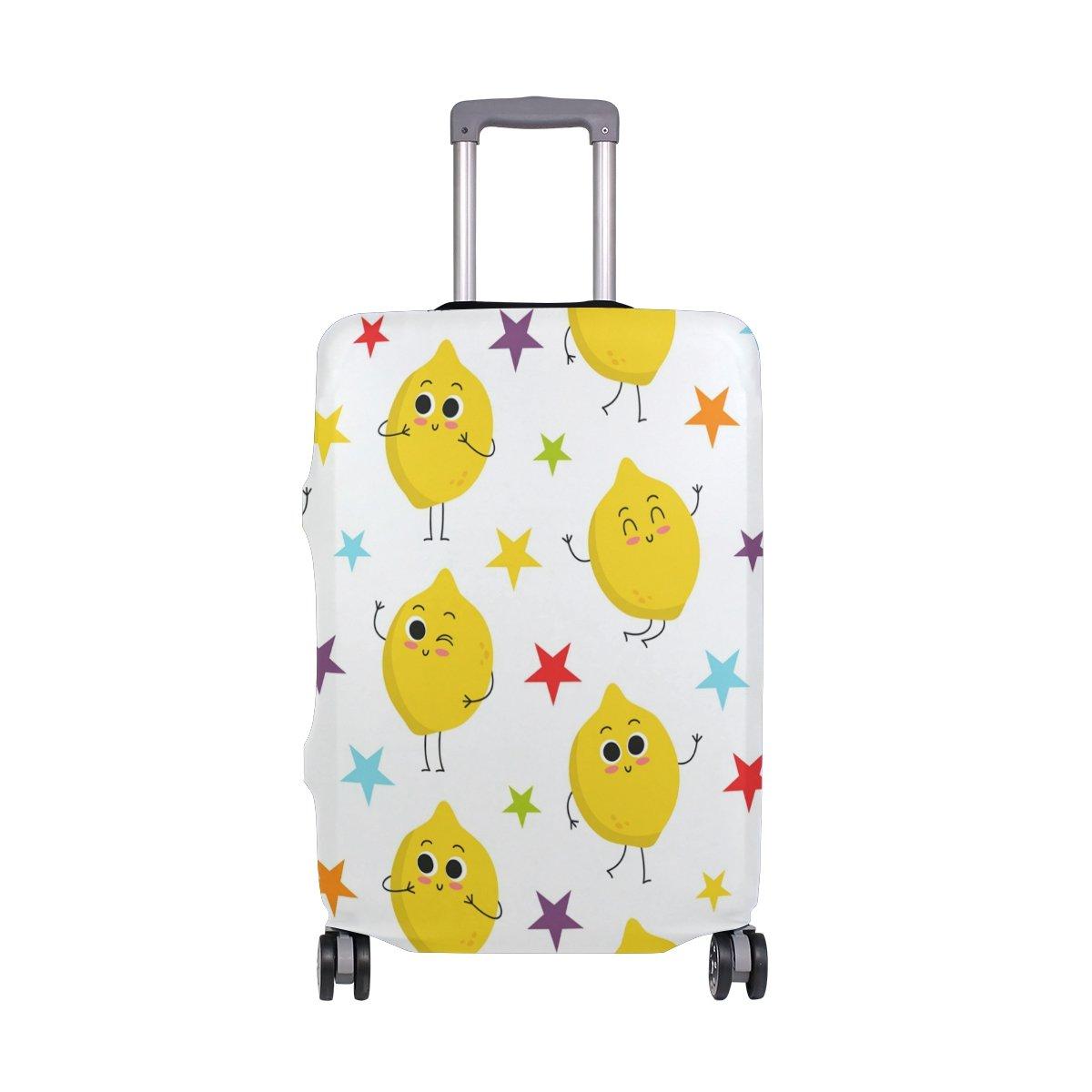 Cute Lemon Emoji Stars Summer Spring Suitcase Luggage Cover Protector for Travel Kids Men Women
