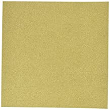 """American Crafts POW Glitter Paper 12""""x12""""-Solid/Gold - 1 per pack"""