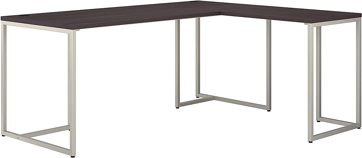 Bush Business Furniture Office by kathy ireland Method L Shaped Desk with 30W Return, 72W, Storm Gray