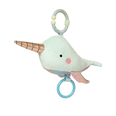 Manhattan Toy Under The Sea Narwhal Baby Teether & Travel Pull Toy: Toys & Games