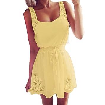 Internet Summer Women Casual Chiffon Dresses Sleeveless Cocktail Short Mini Dress (UK 8-10