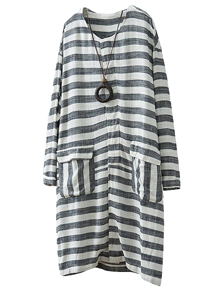 37654ea463 Chinabrands.com: Dropshipping & Wholesale cheap Minibee Womens Button Down  Linen Dress Shirt Striped Loose T online.