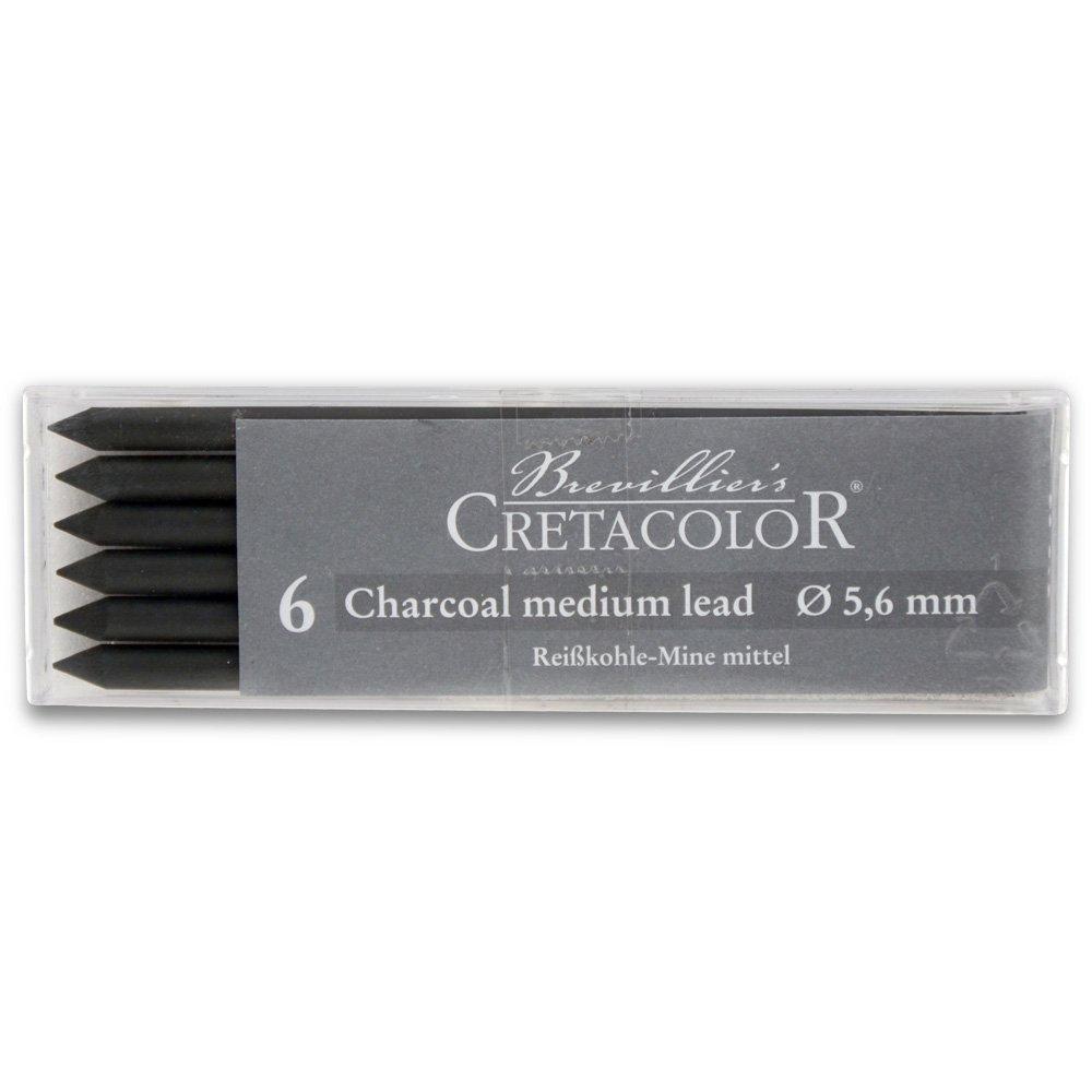 Cretacolor Medium Charcoal Lead 6//Pack