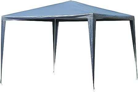 Outsunny Carpa Desmontable Impermeable 3x3x2, 45m Pabellón de Jardín de Tubo de Acero Pérgola de Color Azul Oscuro: Amazon.es: Jardín