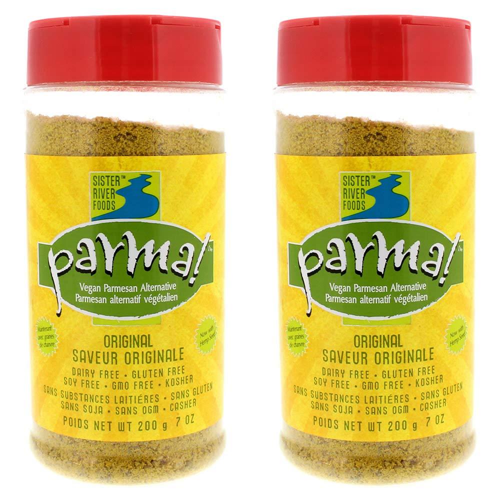 Parma! Vegan Parmesan - Original, Dairy-Free, Soy-Free and Gluten-Free Vegan Cheese, Plant-Based Superfood, Kosher (7 oz, Pack of 2)