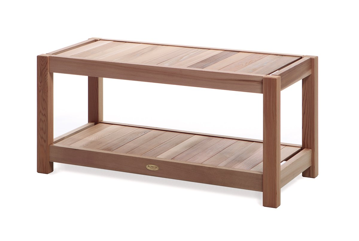 All Things Cedar SB44 Entryway/Sauna Bench, Deluxe