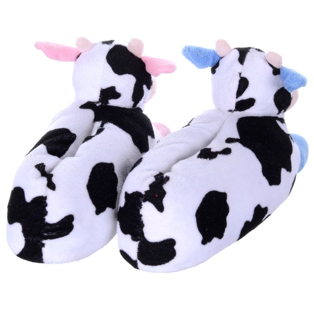 Infants Slippers Mad Moo Novelty Cow Soft Warm Slippers With Grip Soles Girls