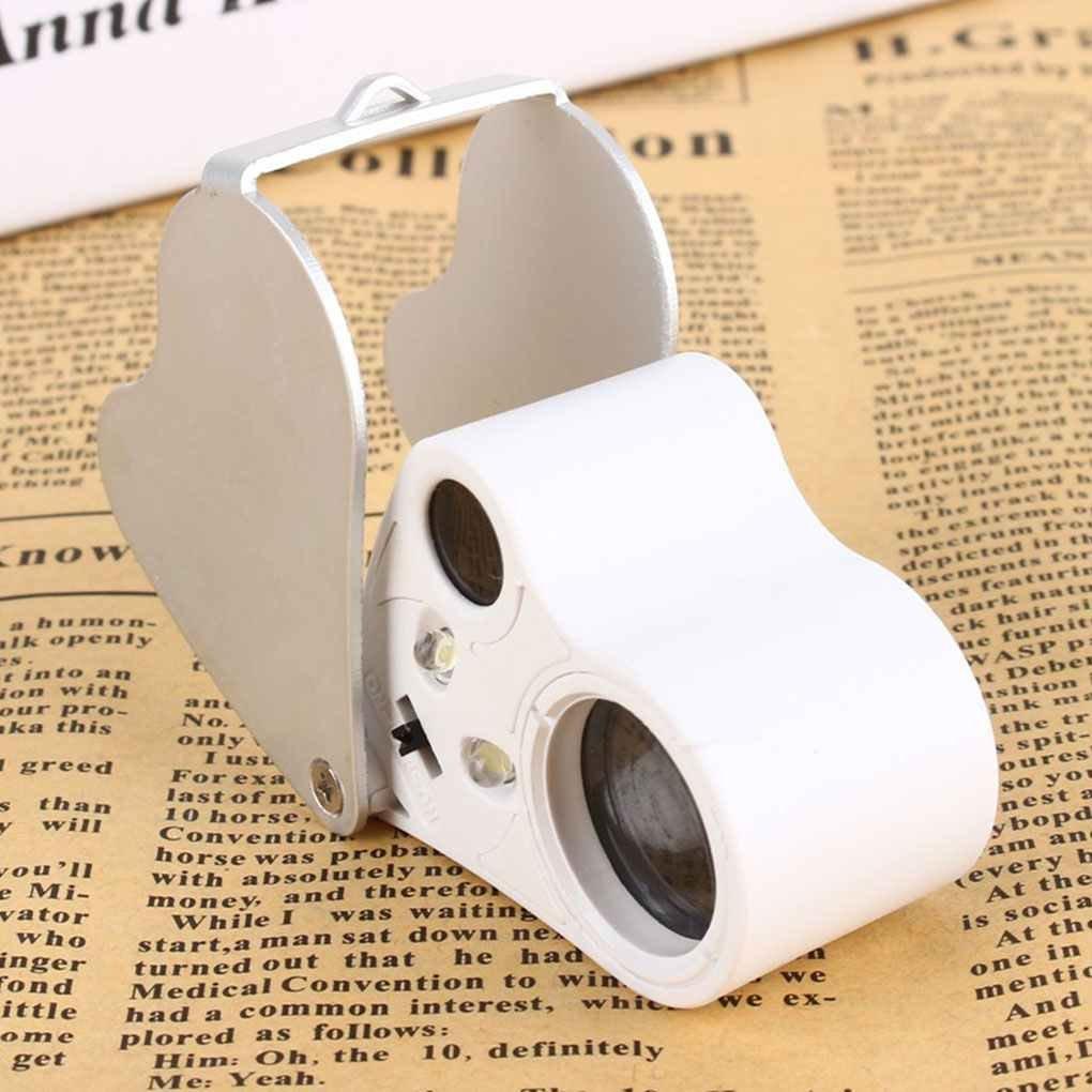 censhaorme 30X 60X Loupe /éclairante Loupe Verre Double Objectif LED Bijoux d/évaluation Outil