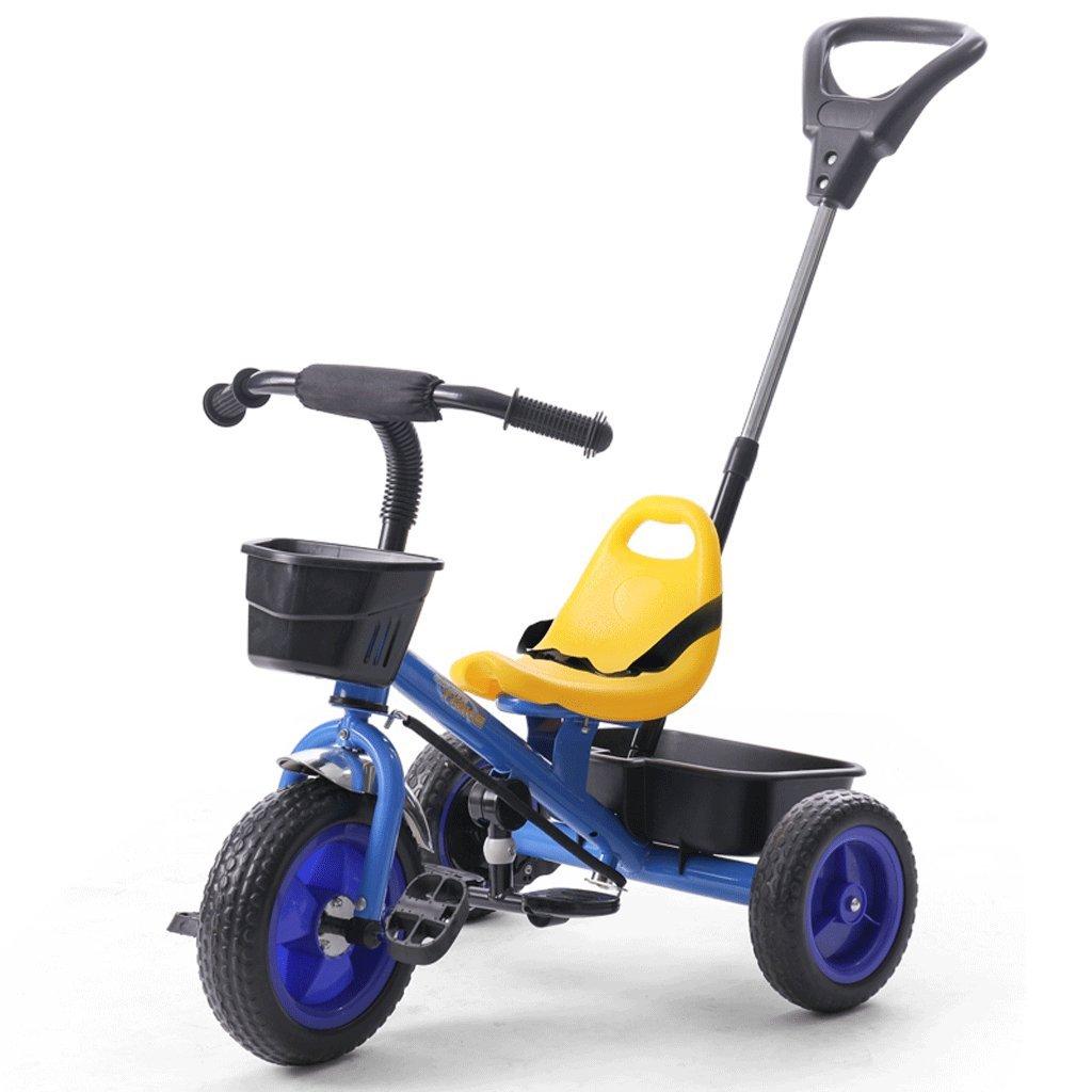 子供の三輪車自転車1 – 5歳ベビーBicycles Baby Stroller調節可能なベビーカー、ブルー、655095 CM B07C86S8Y2
