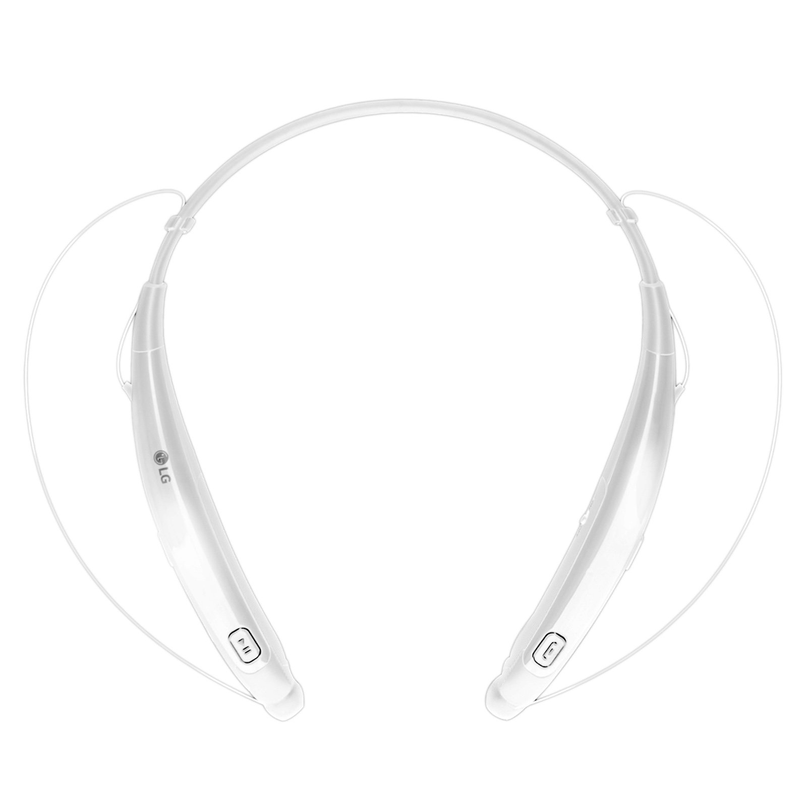 LG Electronics Tone Pro HBS-770 Stereo Bluetooth Headphones White (Certified Refurbished)