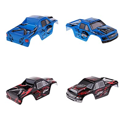 Flameer Pre-Painted Bodywork Body Shell Part for WLtoys A979 1:18 Remote Control Car, 2pcs: Toys & Games