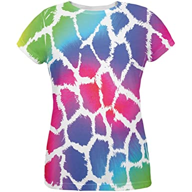 1584eebfb8d7 Old Glory Show Your Colors Spots Gay Pride Rainbow All Over Womens T Shirt  Multi SM