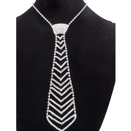 VIccoo Corbata de Diamantes Moda Corbata de Diamantes de imitación ...