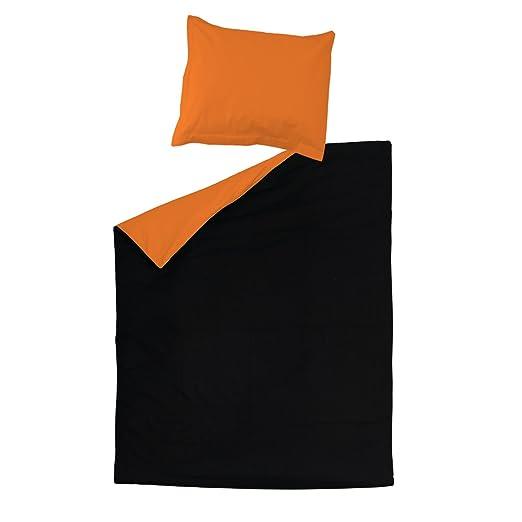 SoulBedroom Black & Orange (Negro y Naranja) Juego de Cama ...