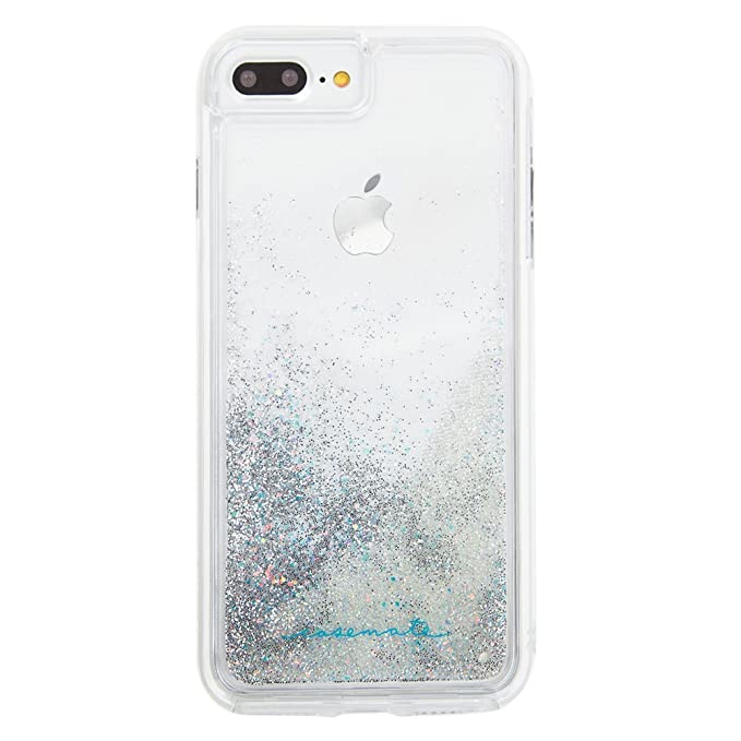 online store feb09 469c4 Case-Mate iPhone 8 Plus Case - WATERFALL - Cascading Liquid Glitter -  Protective Design for Apple iPhone 8 Plus - Iridescent