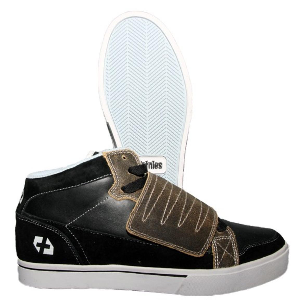 Etnies Skateboard Schuhe Etnies Plus Mid-Velcro Schwarz Braun