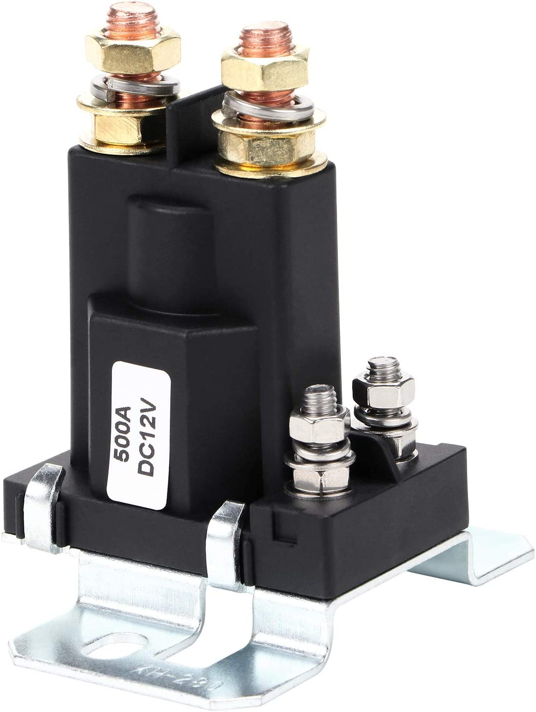 Hseamall Hochstrom Starterrelais 500 Amp Dc 12 V 4 Poliges Spst Auto Auto Start Schütz Doppelbatterien Ein Aus Schalter Für Die Isolatorsteuerung Auto