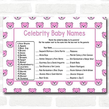 Amazon.com: Tarjetas de nombre para bebé, diseño de Teddys ...