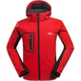 XMS Homme Imperméable Coupe-vent Softshell Doublé polaire Manteau Outdoor Sport Veste de Camping Randonnée Escalade