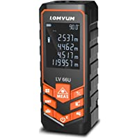 Laser Entfernungsmesser Distanz 50M,LOMVUM Laser Messgerät Entfernung Messen Sie Entfernung, Fläche und Volumen,Pythagoras