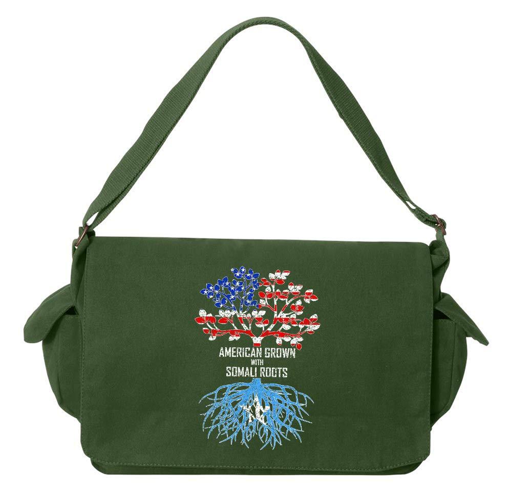Tenacitee American Grown with Somali Roots Royal Blue Brushed Canvas Messenger Bag