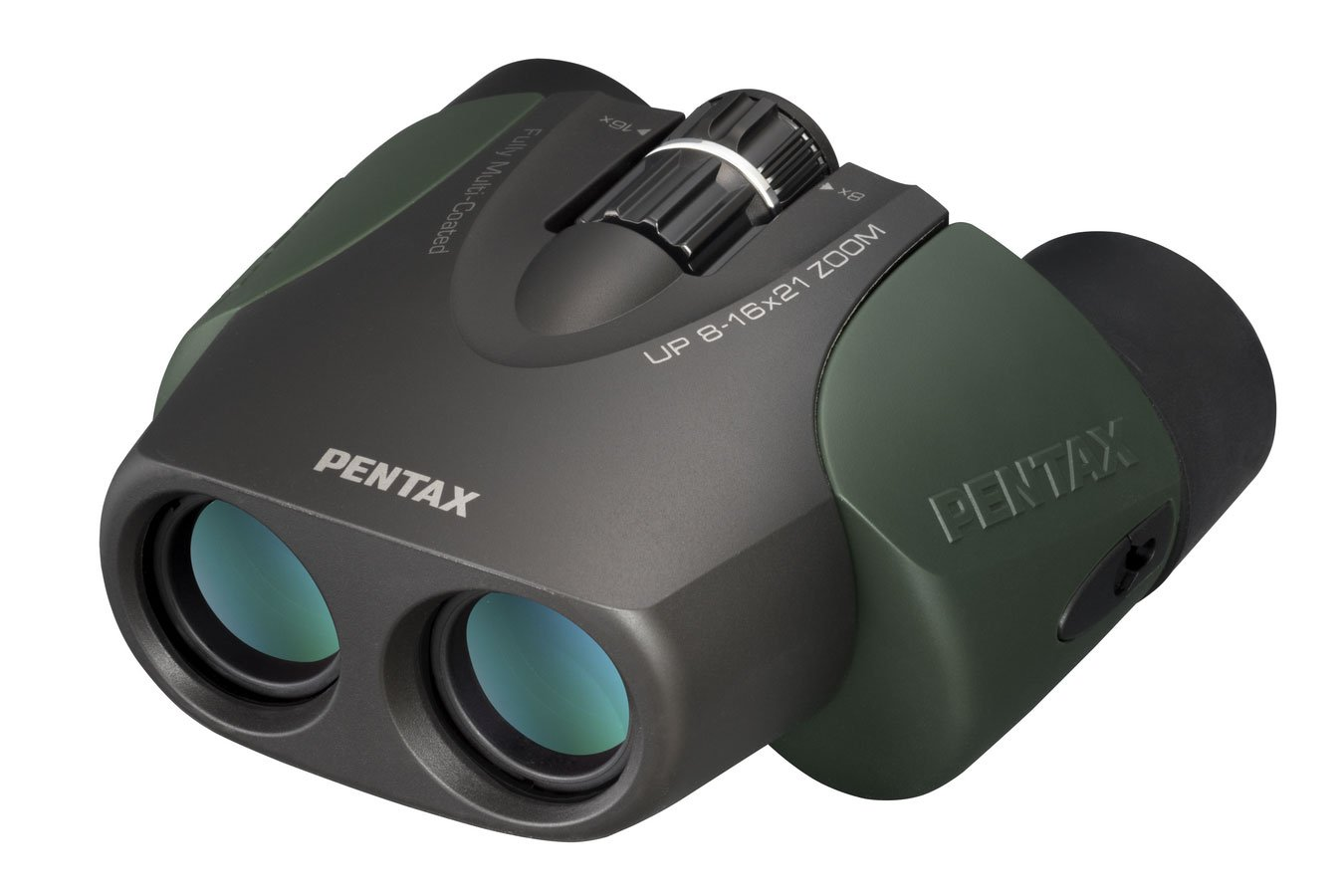 Pentax up 8-16x21 Binoculars, U-Series, Green PENTAX RICOH IMAGING CANADA INC. UP 8-16x21 Green