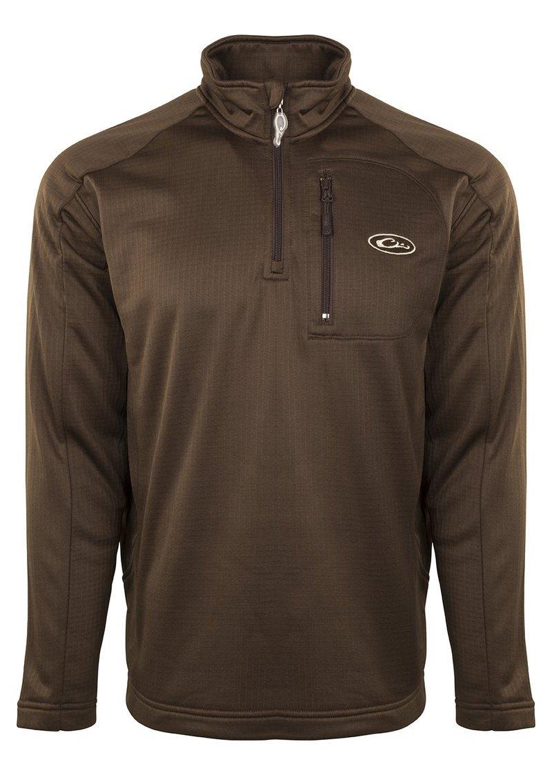 Drake Breathlite 1/4 Zip Brown Jacket, Medium