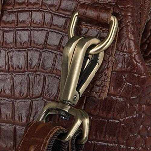 Solo Patrón Capacidad Hombro Multifunción Bolsos 6003As De Con De Brown Cocodrilo Brown Grande Bolsos Bolso GTUKO JMD De wHPXv