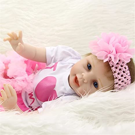 Amazon.es: Muñecas de bebé reborn de silicona suave, realista, 55 cm, regalo para el día de la madre: Juguetes y juegos