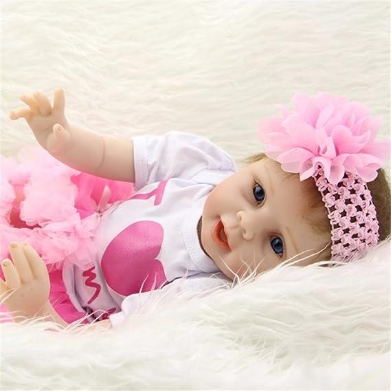 Amazon.es  Muñecas de bebé reborn de silicona suave 4e982ef08c18