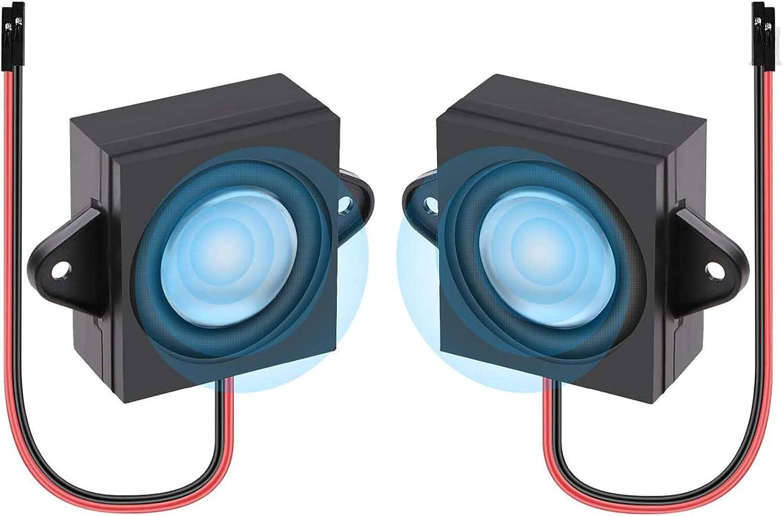 Innovateking-EU 2 unids Altavoz 3 vatios 8 Ohmios de una Sola cavidad Mini Altavoz portátil de Rango Completo portátil, Conector Separando una o Dos Fuentes 3.3V 5V