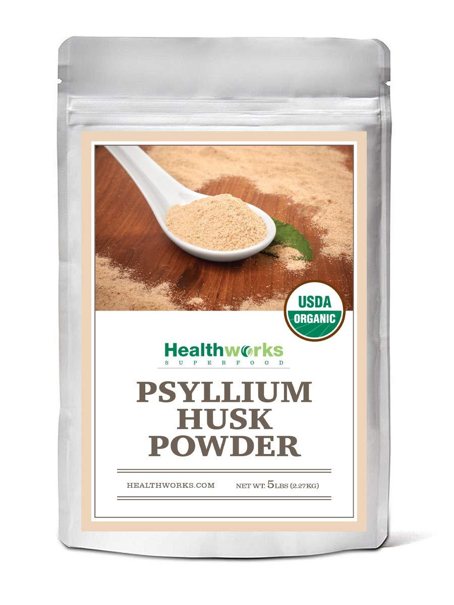 Healthworks Psyllium Husk Powder Organic 5 Pound