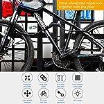 Osaloe-Lucchetto-per-Bici-Luce-Notturna-a-LED-4-cifre-azzerabile-Combinazione-per-Bici-Moto-Porta-cancello-Recinzione-griglia-15-m