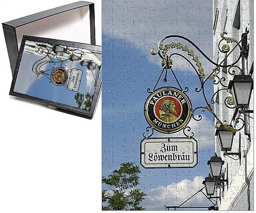 photo-jigsaw-puzzle-of-wrought-iron-sign-advertising-paulaner-and-lowenbrau-beer-wolfrathausen