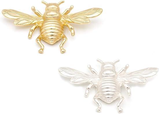 Broches Grandes de Bisutería Insectos - Pack de 2 - Ideal para Mujeres - Combinación Vestidos y Cualquier Tipo De Ropa - Calidad Española: Amazon.es: Joyería