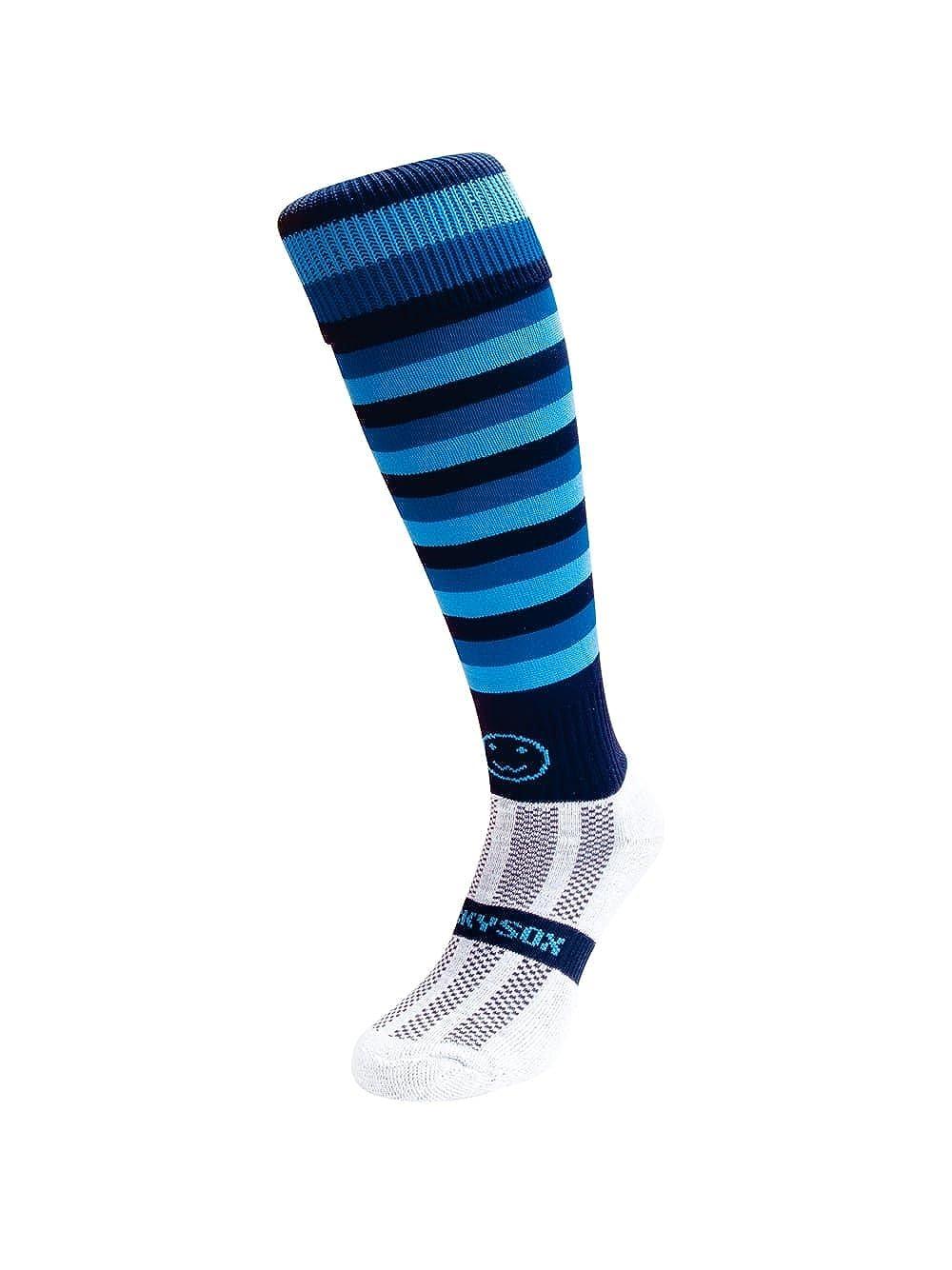WackySox Micro Hoops Knee Length Rugby Hockey and Football Sports Socks