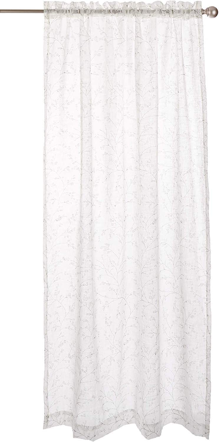 "LORRAINE HOME FASHIONS, Ecru, Willow Window Curtain Panel, 54"" x 63"""