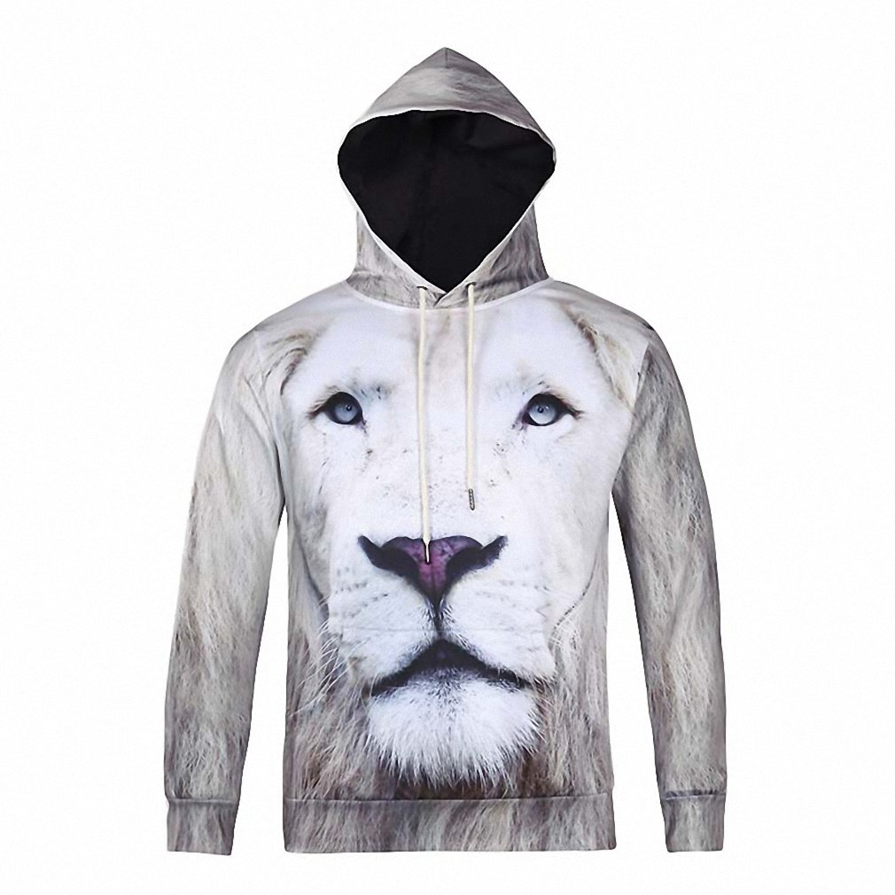 Animal Lion Printed Fashion Brand Hoodies Men/Women 3d Sweatshirt Hooded Hoodies With Cap And Pockets Hoody lovely Tracksuits at Amazon Womens Clothing ...