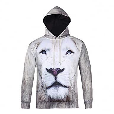 Animal Lion Printed Fashion Brand Hoodies Men/Women 3d Sweatshirt Hooded Hoodies With Cap And