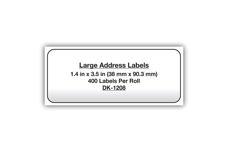 amazon co jp die cut address labels 1 4 x 3 5 white 400 roll