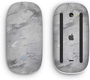 Dark Silver Marble Swirl V9 - Design Skinz Premium Vinyl Decal for The Apple Magic Mouse 2 (Wireless, Rechargable) with Multi-Touch Surface