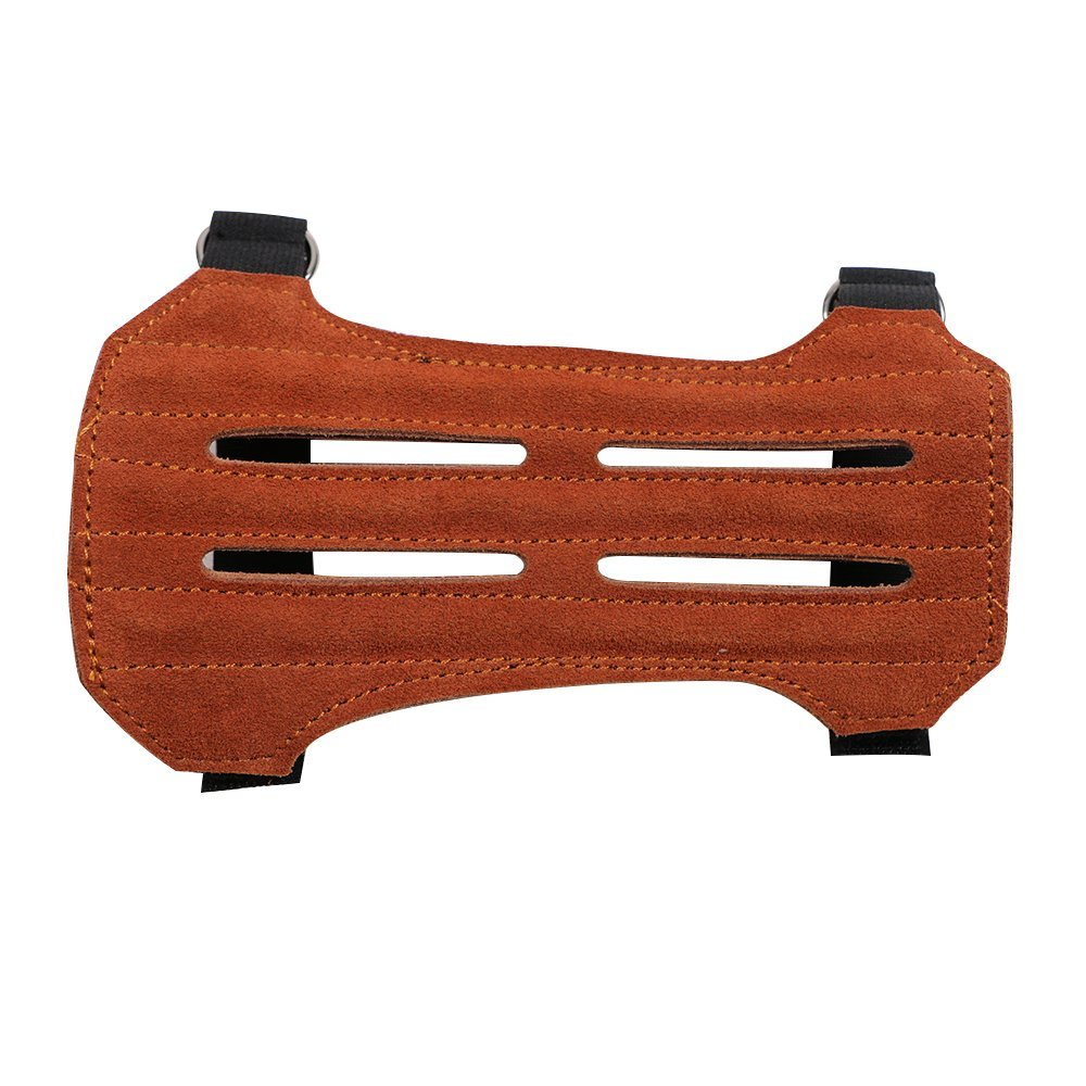 Labu Store Archery Arrow Leather 3 Strap Target Archery Arm Guard Safety Protection Armband