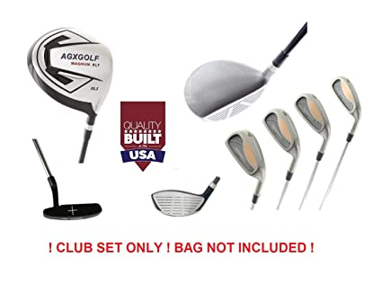f0b52017ac82 AGXGOLF Magnum Men's XT Executive Edition Golf Club Set: Graphite 460cc Dr  + Woods + 4, 6, 8 Irons + Pitching Wedge + Free Putter Right Hand: Cadet,  ...