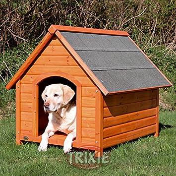 Fácil de montar de madera perro de la perrera con techo inclinado – especialmente por pies